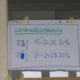 Landesaktionswoche – Save the date!