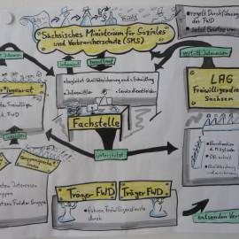 Organisationsstruktur des FSJ in Sachsen