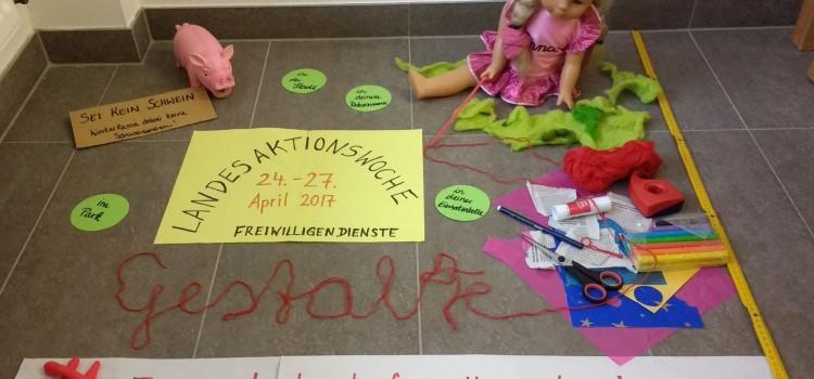 #einquadratmeterfreiwilligendienste – Landesaktionswoche der Freiwilligendienste FSJ und FÖJ in Sachsen