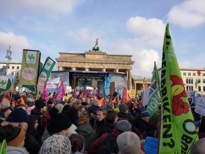 Über 35000 Menschen demonstrieren vor derm Bandenburger Tor.