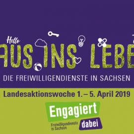 Landesaktionswoche: Leipziger Freiwillige laden ein, sich über Freiwilligendienste zu informieren und sich an Aktionen zu beteiligen
