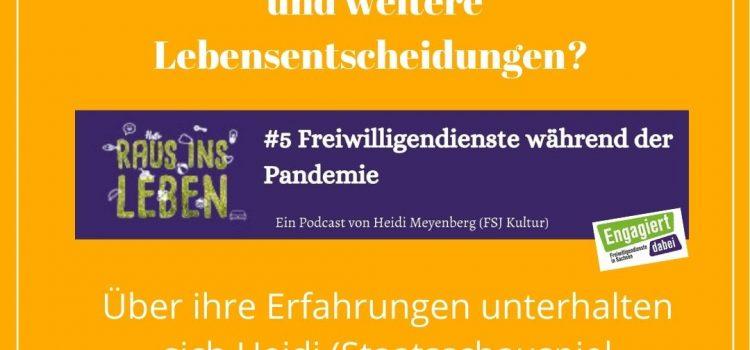 Freiwilligendienste während der Pandemie – die neue Podcastfolge ist online